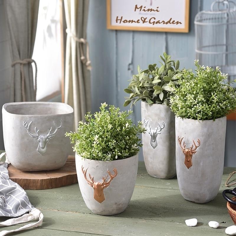 Ev ve Bahçe'ten Kek Kalıpları'de DIY mini küçük vazo beton ekici silikon kalıp ev el sanatları dekorasyon çimento succulents pot kalıpları'da  Grup 1