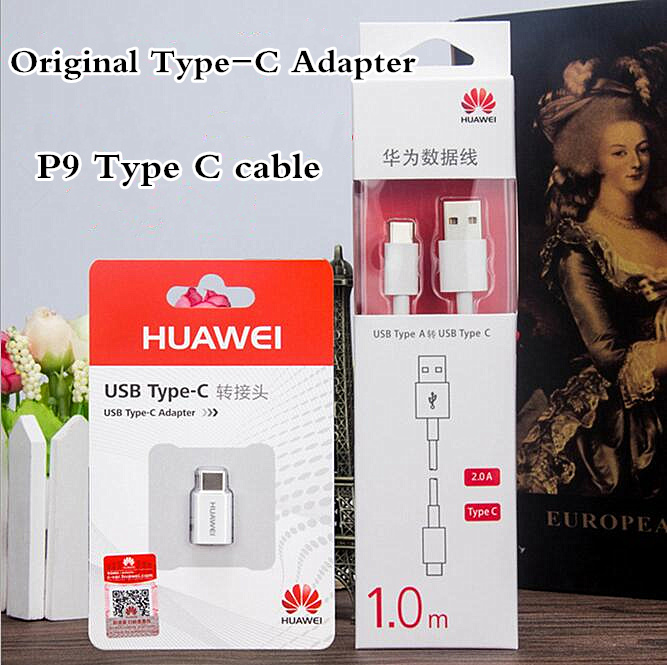 Original OTG for Huawei P9 Adapter USB Type C to Micro USB Charger/Type-C Adapter/data cable for Nexus 6P P9/Plus Honor V8