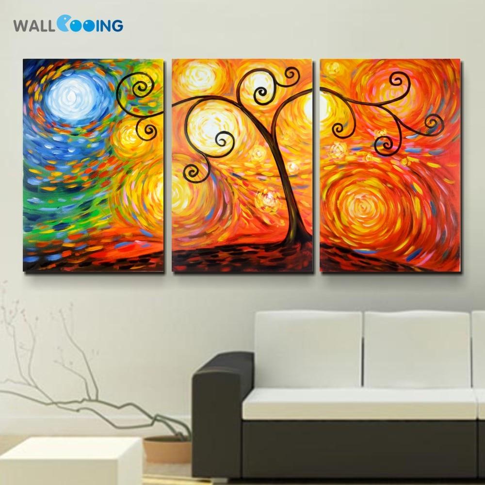 نقاشی دیواری 3 تابلو ون گوگ به سبک 100٪ - دکور خانه