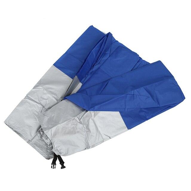 AUTO Funda Protector de Polyester Talla XXL (265cm) Cubierta for Moto Gris y Azul