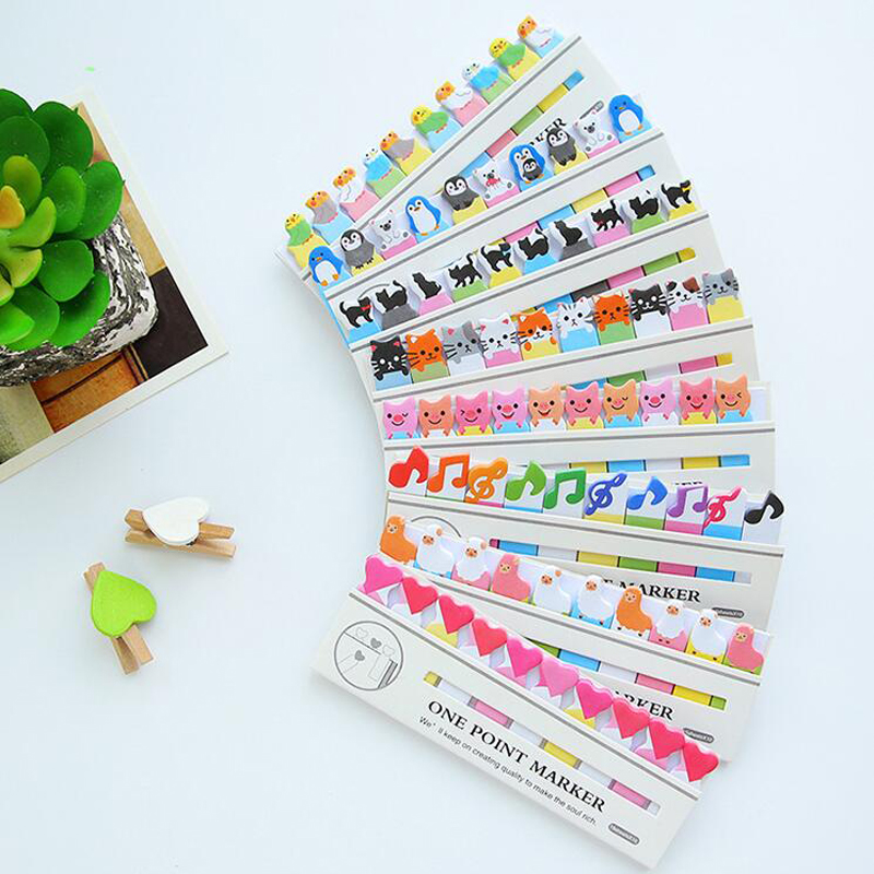1X Cute Kawaii Cat Bird Penguin Piggy Frog Sheep Panda Heart Note Paper Memo Pad Sticky Notes Stationery School Office Supply