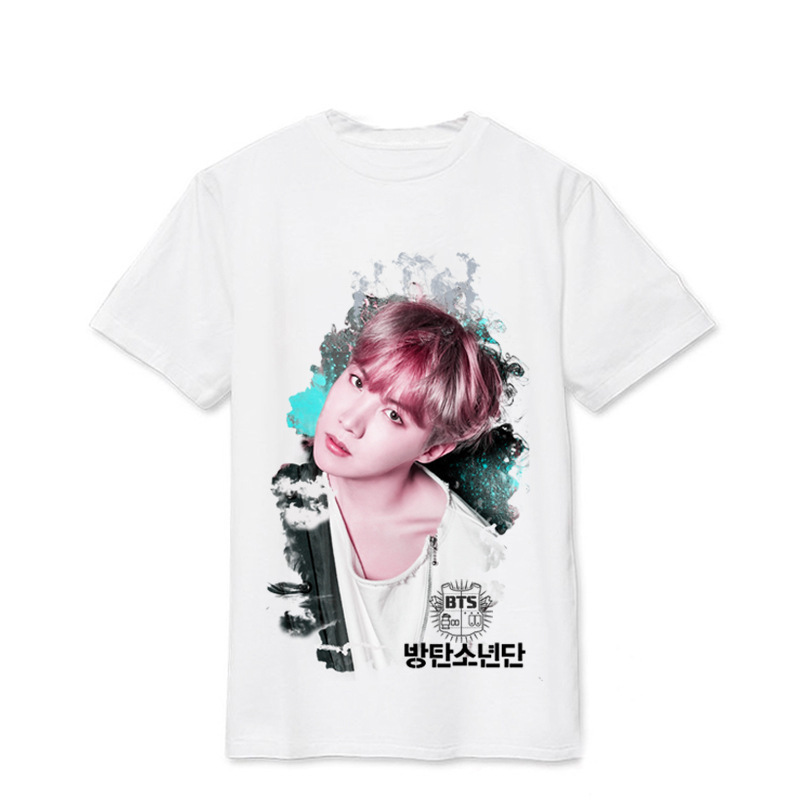 Kpophome BTS Bulletproof Youth League Album Photo The same paragraph T-shirt Men and women Summer Print Loose T-shirt