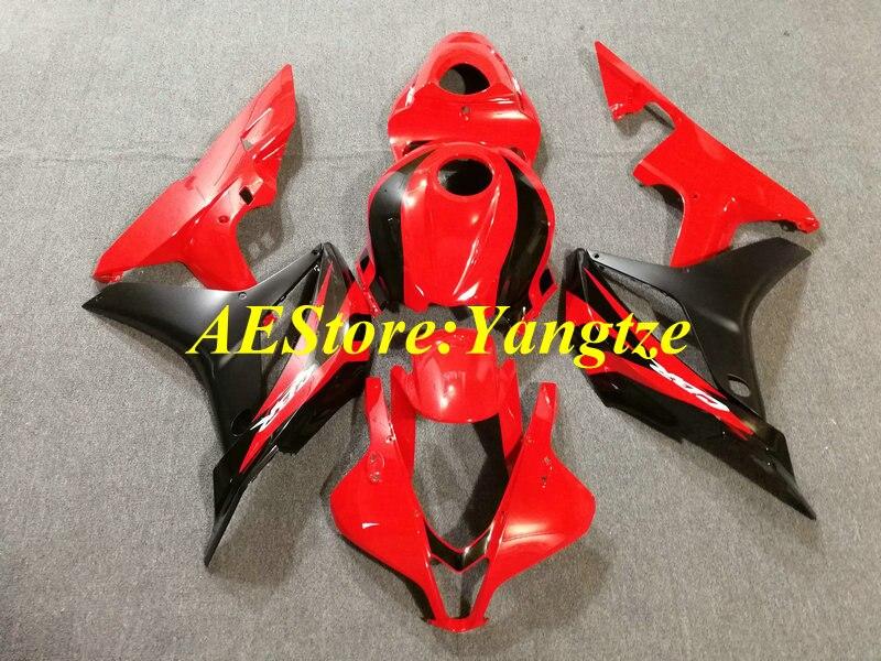 De Kit de carenado de motocicleta para CBR600RR F5 07 08 CBR 600RR 2007 2008 CBR600 rojo negro Juego de carenados + regalos HG35