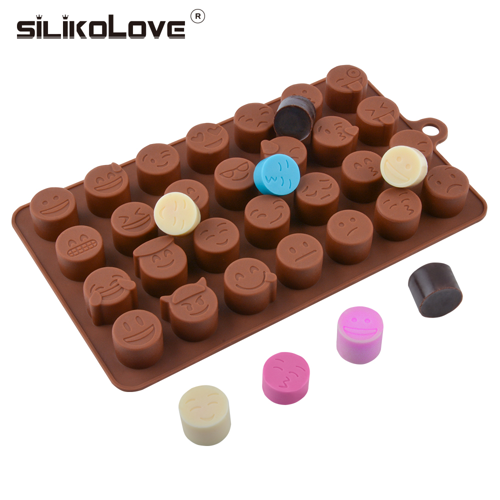 Emoji Face Silicone Ice Making Tray Ice Tube Mold Suitable For Home Baking Fondant Cake Mold