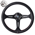 "LA racing-14"" (345mm) ND Steering Wheel really Leather red line Steering Wheel light deep ND Racing Steering Wheel"