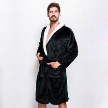 Зимние коралловые бархатные теплые пары халаты изысканный Халаты для мужчин с длинными рукавами мужской Халат spa Sheer мужские халаты