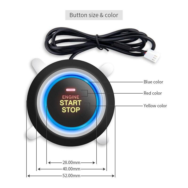 EASYGUARD qualité clé intelligente PKE système d'alarme de voiture bouton poussoir démarrage arrêt démarrage à distance moteur proximité déverrouillage verrouillage sans clé entrée - 2