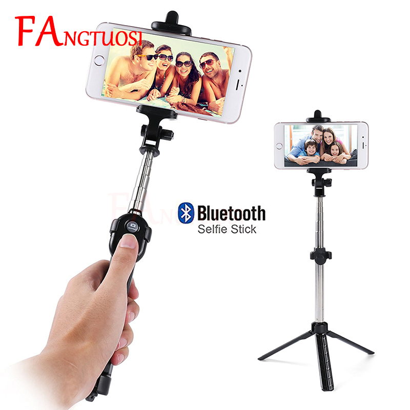 FANGTUOSI Wireless Bluetooth Selfie Stick For iPhone 7 6s plus Mini Tripod Portable Extendable Monopod With Remote Control New 3 in 1 handheld bluetooth selfie stick for iphone x 8 7 6s plus wireless remote shutter monopod portable extendable mini tripod