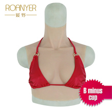 Roanyer Top B- cup Artificial Silicone Breast Form  Realistic Fake Boobs for Crossdresser drag queen shemale