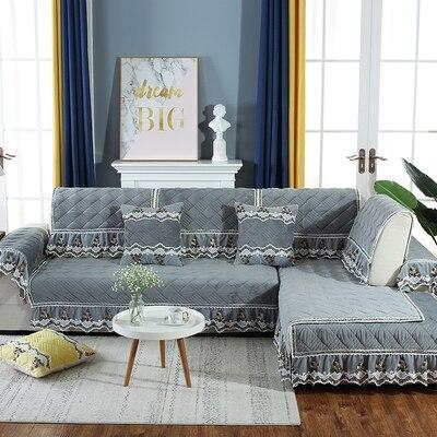 Winter plush sofa cushion thick non slip sofa universal living room home sofa cushion in Cushion from Home Garden