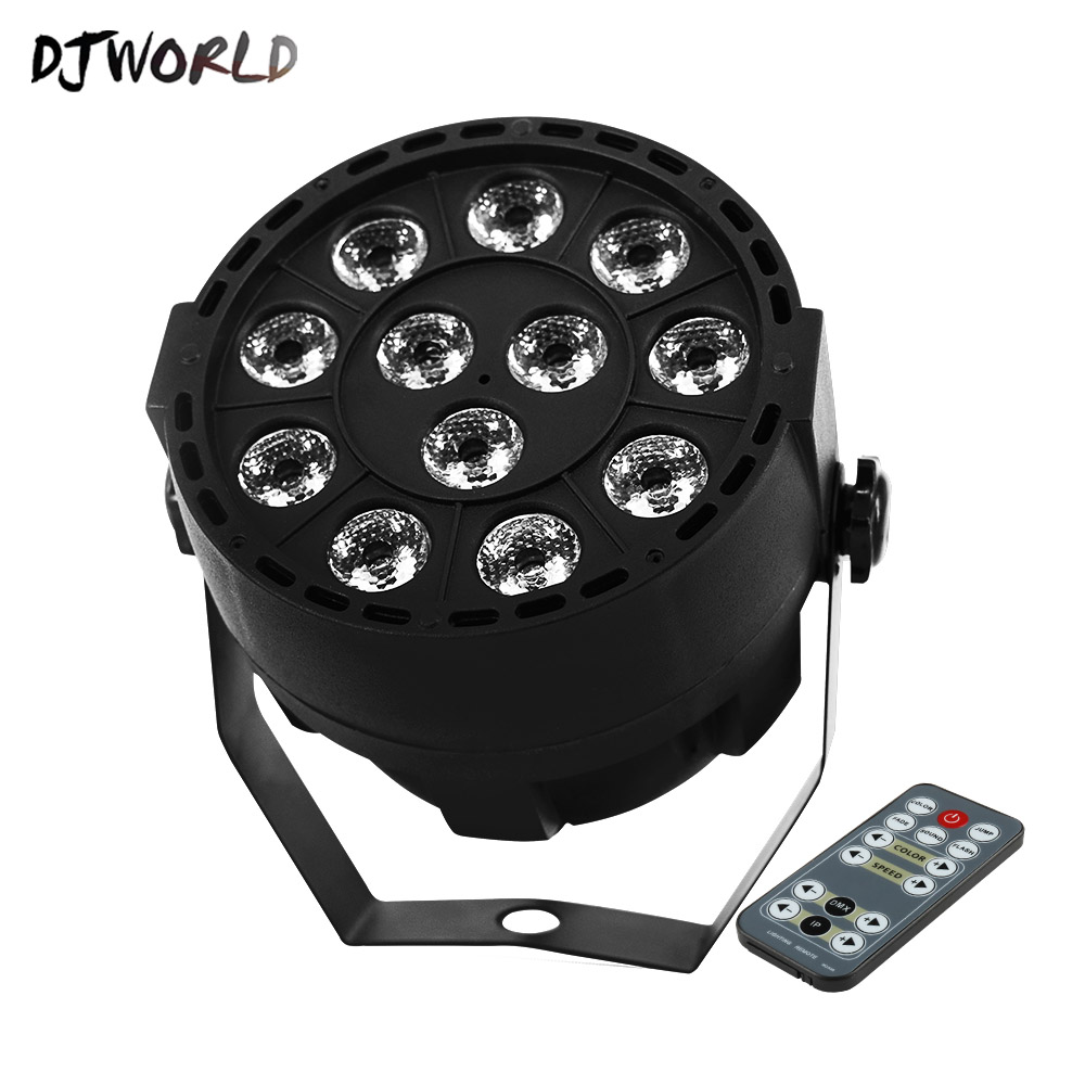 Wireless Remote Control LED Black Or White Flat Par 12x3W RGBW Lighting Can Be Choose Good For Wedding Birthday Party