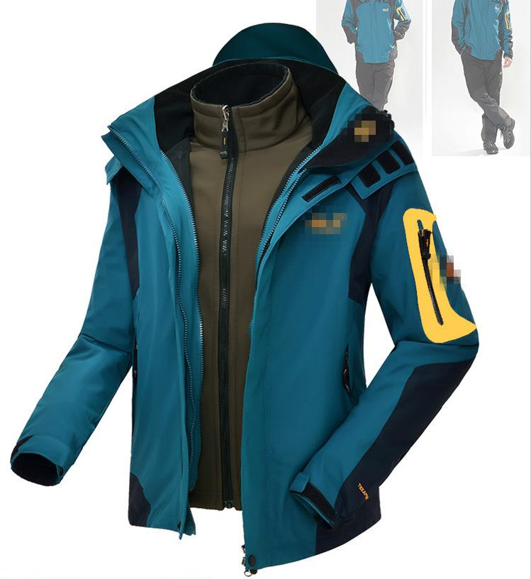 2018 New Arrival Men's Outdoor Clothing Windproof Waterproof Breathable Warm And Wear Resistant Jacket Two Piece Sets
