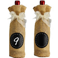 "Wine Burlap Gift Bags Blind tasting wine bottle pouches 13cmx30cm (5"" x12"")  Rustic Wedding Party Hessian Decoration"