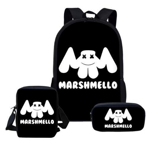 2019-Newest-School-Bags-DJ-Marshmello-Schoolbag-Set-for-Students-Anime-Style-Shoulder-Backpack-Leisure