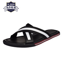 Mens Slippers Summer sandals Sneakers Men Slippers Flip Flops casual Shoes beach outdoor anti-skid all-match cowhide leather mens anti skid sandals fender summer men genuine leather slippers cowhide sneakers men flip flops casual shoes beach outdoor
