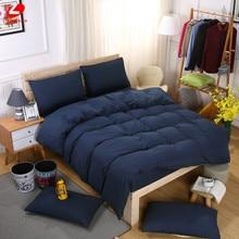 Lifeng hogar sistemas del lecho sólido 4 unids funda nórdica + hoja plana + funda de almohada ropa de cama ropa de cama de verano azul oscuro Brefi hogar juego de cama