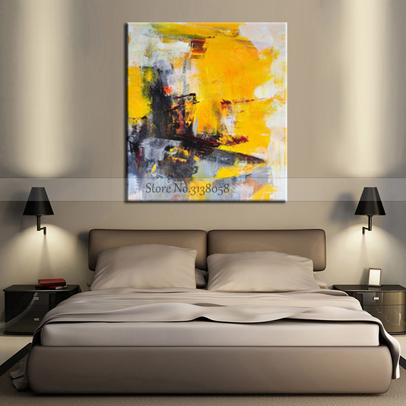 Hot Modern Large Abstract Art Home Decor Hang Picture Handmade Oil Painting On Canvas Contemporary Wall Artwork Paints