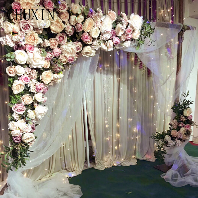 Decoration Flowers For Wedding: 1.6M Wedding Decoration New Artificial Flower Row Flower