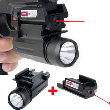 Red Dot Laser Sight Tactical LED Flashlight 2in1 Combo Hunting Accessories for Pistol Guns Glock 17,19,20,21,22,23,30,31,32
