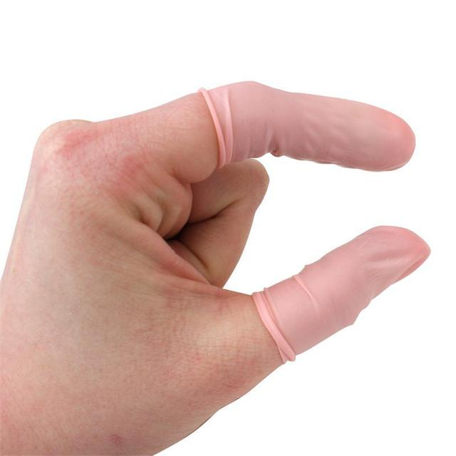 PVC Safety Gloves & rubber Latex Finger Cots in bag