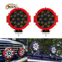OKEEN 2pcs 51w LED Work Light Spot Beam Driving lights for offroad Truck Tractor ATV SUV UAZ Auto 4WD 4x4 Ramp 12V 24V Car Lamp