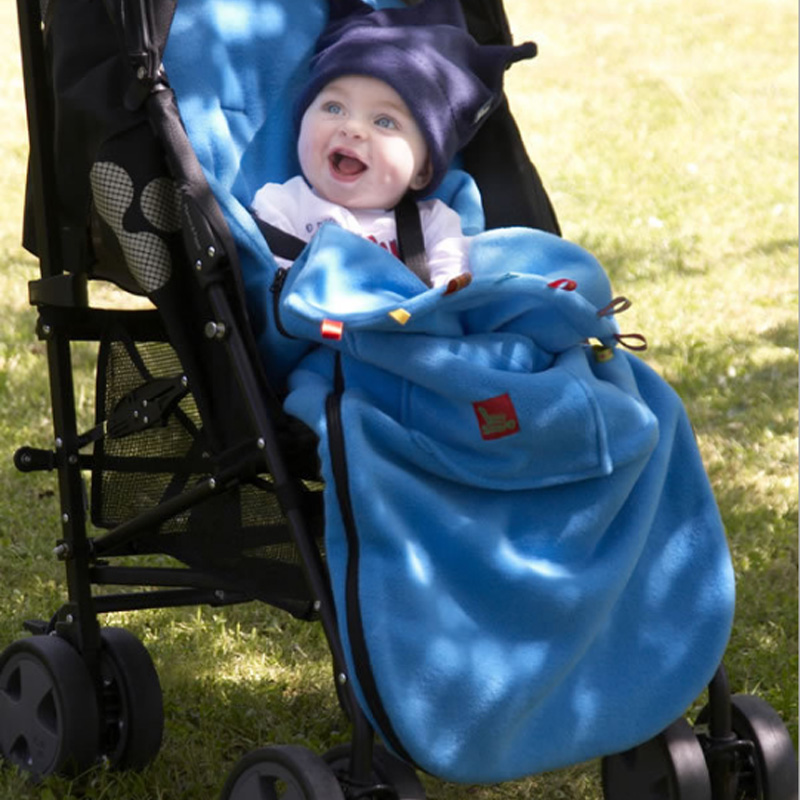 Image 1 - Fashion Baby Stroller Sleeping Bag Warm Newborn Infant Swaddle Blanket Wrap Sleep Sacks Soft Fleece Stroller Wrap Footmuff-in Sleepsacks from Mother & Kids
