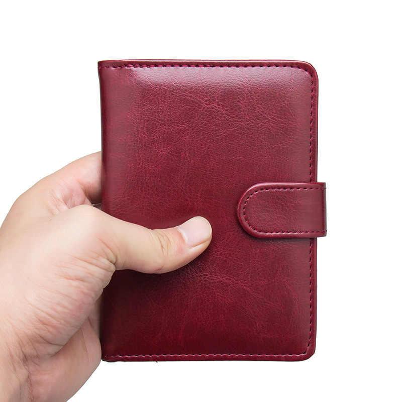 bb88a5e88f60 KUDIAN BEAR Leather Passport Cover Men Travel Passport Holder Cover Russian  Passport Wallet for Document BIH090 PM49
