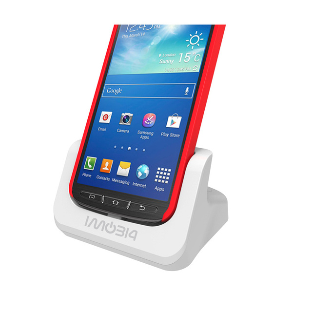 BrankBass hot sale Cover-mate Dual Cradle Desktop Dock battery Charger for Samsung Galaxy S4 Active with Audio out