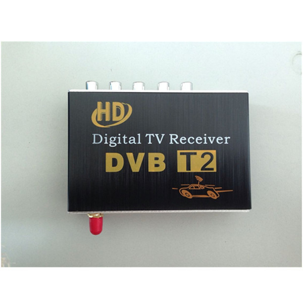 Car DVB-T2 HD tuner Digital TV BOX receiver box Dual Antenna for European Free shipping for Asia  60km h 1080p car dvb t2 mobile digital tv tuner receiver box for russian colombia one seg free shipping
