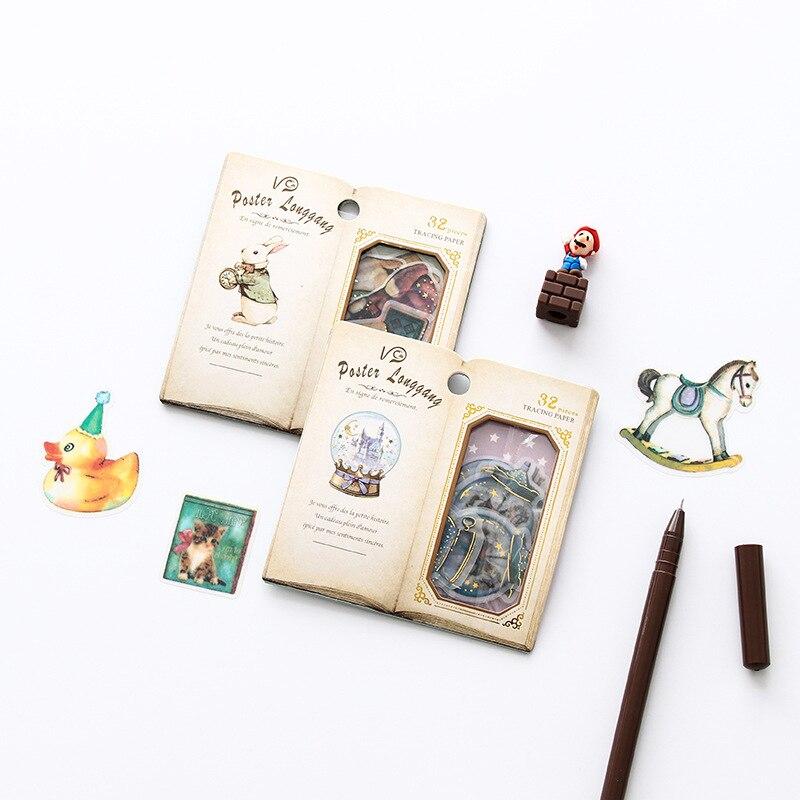 Cartoon Sweet Playground Animal Flower Decorative Stationery Stickers Scrapbooking DIY Diary Album Stick Lable
