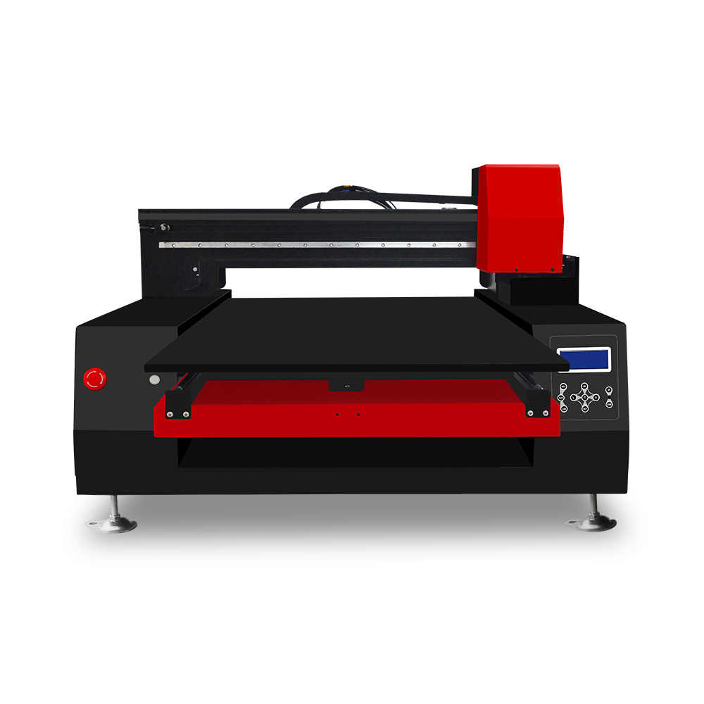 60*90cm print size high speed automatic xp 6090 UV  printer 12 color 2 printhead for phone case pen glass T-shirt wood metal