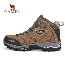 CAMEL 2018 New High-Top Lace-up Hiking Shoes For Men Antiskid Breathable Shock Absorption Outdoor Sports Climbing Trekking Boots