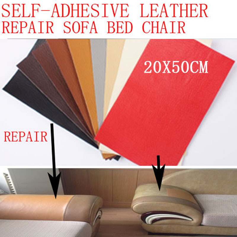 sofa repair leather self-adhesive pu for car seat chair bed bag patch dog bite hole fix renew sticker 20x50cm