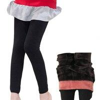 Genç Kız Kalınlaşmak Artı Kadife Tozluk Için Çocuklar Pantolon Kız Giyim Kış sıcak Skinny Pantolon 3 5 7 8 9 11 12 13 14 yıl