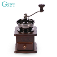 Coffee Hand Grinder Manual Coffee Bean Grinder Mill Aluminum Alloy Bowl Ceramic Grinder Core