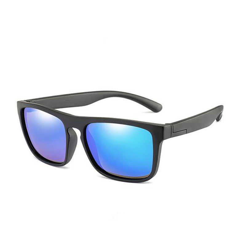 Квадратные детские солнцезащитные очки, поляризационные, винтажные, для маленьких девочек и мальчиков, Роскошные, брендовые, дизайнерские очки, 2019, UV400