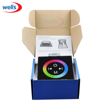 DC12V-24V 12A / 3 channels LED Touch Panel RGB Controller w/ Rainbow Color Ring