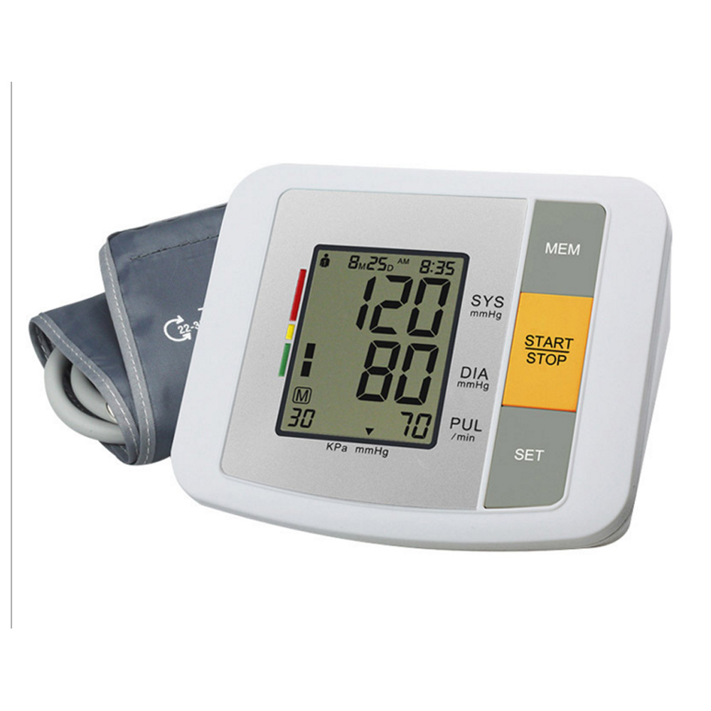 Arm Style Full Automatic Electronic Blood Pressure Monitor Sphygmomanometer Blood Pressure Monitor Health Care 170825 electronic sphygmomanometer on the arm home intelligent automatic measurement of blood pressure instruments
