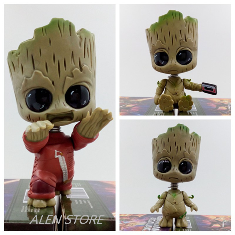 ALEN Guardians of the Galaxy 2 Baby Tree Man Bobble Head Dolls PVC Action Figure Collectible Model Toy 3 Types