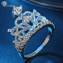 LXOEN Luxury Crown Design Engagement Rings for Women Best Gift Zircon Ring for Party Jewelry Accessories boosbiy 2019 hot sale 52 styles stackable party finger ring for women original brand heart crown ring engagement jewelry