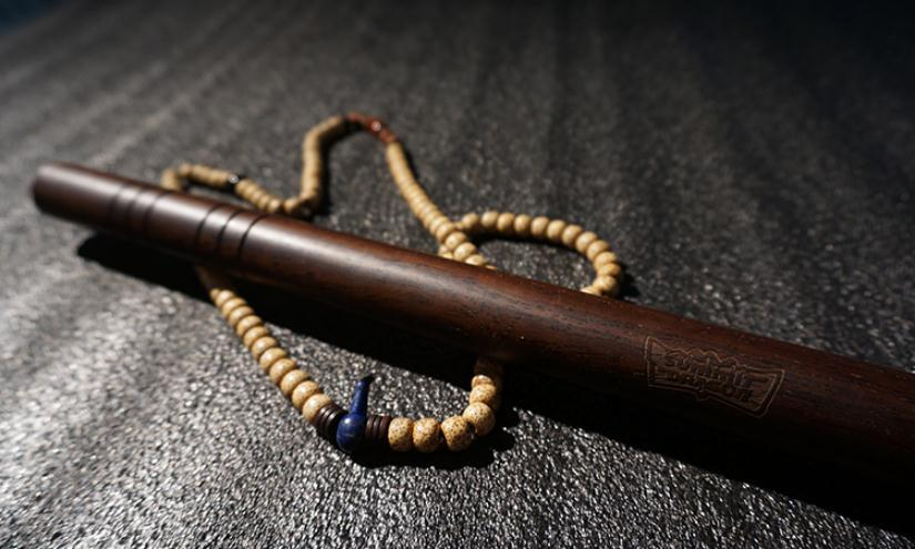 Ebony Escrima Sticks Hardwood Kungfu Wushu Sticks Bo Staff