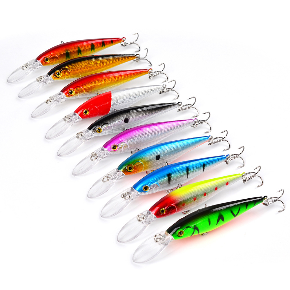 10PCS Lot Good Minnow 11cm 10 5g Artificial Hard Bait Fishing Lures Wobbler Crankbait in Fishing Lures from Sports Entertainment