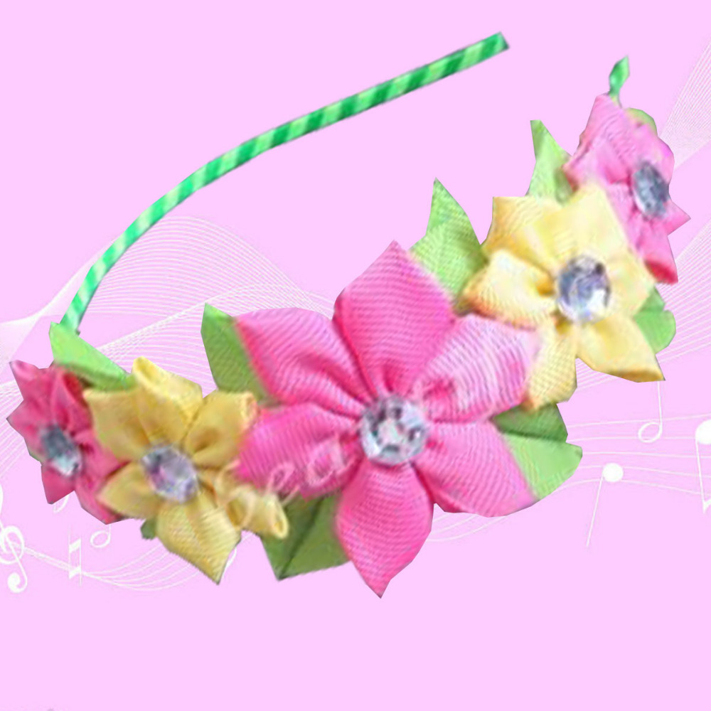 50 BLESSING Good Girl Modern Style Headband Rose Garland Hair Bow 84 No.