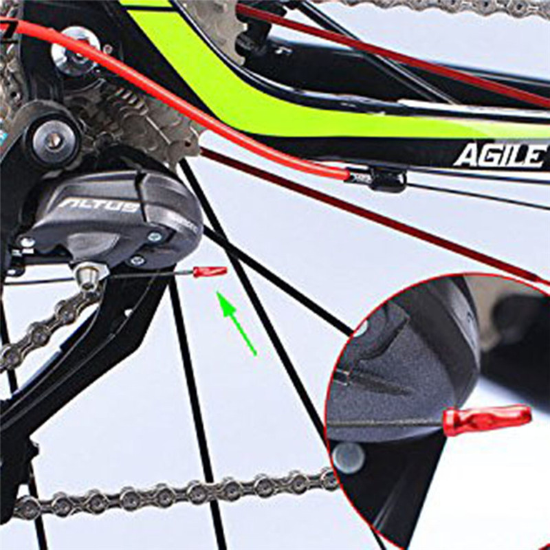 100pcs Gear Brake Wire Bike Inner Cable End Ferrule Crimp Tidy Nipple Cover