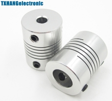 5mmx10mm CNC Motor 3D PrinterJaw Shaft Coupler 5mm-10mm Flexible Coupling 5x10mm