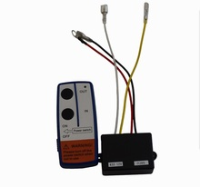 Freies Verschiffen 12V Elektrische Winde Drahtlose Fernbedienung & Receiver Kit Für Auto Lkw ATV