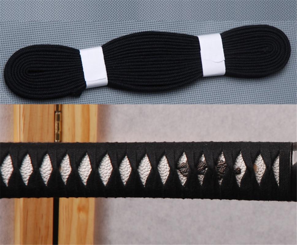 Black Ito Sageo Cotton Cord For Samurai Sword Japanese Katana Or Wakizashi Or Tanto Fitting Mounting M6