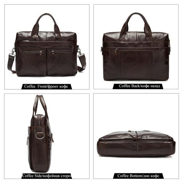 Westal Men S Bag Genuine Leather Shoulder Crossbody Bags Male Messenger Laptop Briefcases Tote Handbags