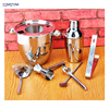 7 Pcs Set Cocktail Shaker 350ml Cocktail Making Tools Stainless Steel Clip Cup Swizzle Sticks Bartender