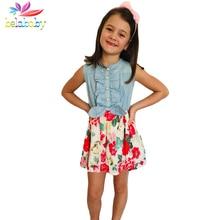 Belababy Baby Girl Dress 2018 New Brand Floral Girls Summer Dresses Princess Kids Dresses For Girls